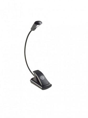 König & Meyer kottalámpa - LED FlexLight – 1 LED-es, csíptethető, 3 db AAA elemmel működik, flexibilis nyakkal, fekete