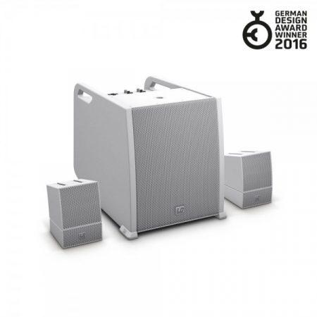 LD Systems hordozható array rendszer – AV készlet, hangfalkábelekkel, fehér LS-LDCURV500AVSW