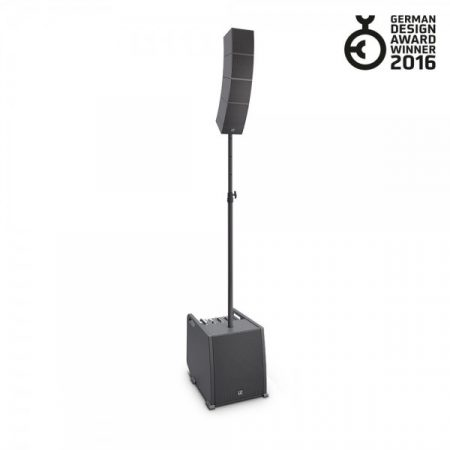 LD Systems hordozható array rendszer – szórakoztatóipari felhasználásra, hangfaltartó rúddal és hangfalkábellel LS-LDCURV500ES