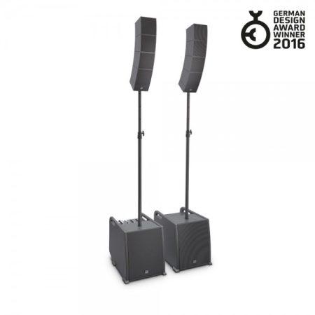 LD Systems hordozható array rendszer – nagyteljesítményű dupla készlet, hangfaltartókkal és hangfalkábelekkel LS-LDCURV500PS