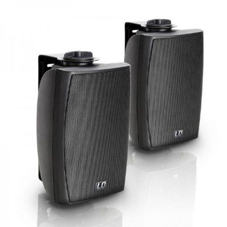 """LD Systems Contractor CWMS 42B 100V – 4""""-os kétutas, falra szerelhető hangszórópár, 100 V-os rendszerekhez, fekete"""
