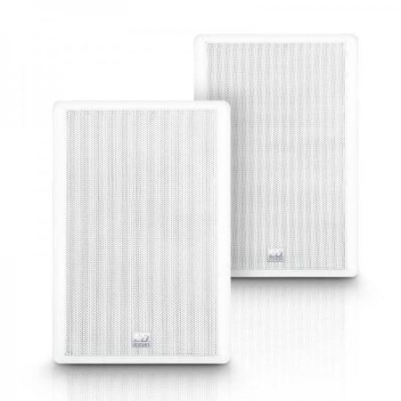 """LD Systems Contractor CWMSS 5W 100V – 5,25""""-os kétutas, falra szerelhető hangszórópár, 100 V-os rendszerekhez, fehér"""