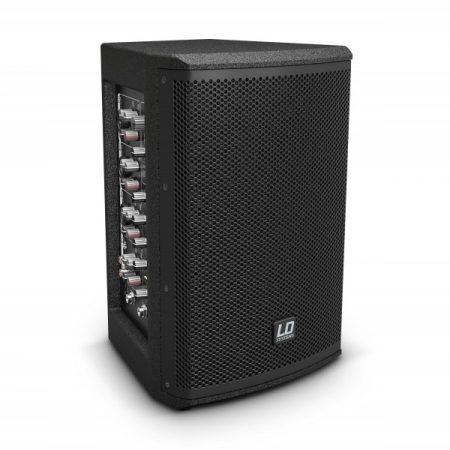 """LD Systems Stinger MIX 6 A G3 – 6"""" + 1""""-os aktív PA hangfal, beépített 4 csatornás keverővel"""