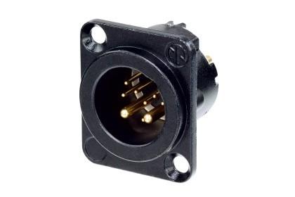 Neutrik NC10MDLXB 8+2 (10) pólusú XLR dugó aranyozott érintkező, fekete