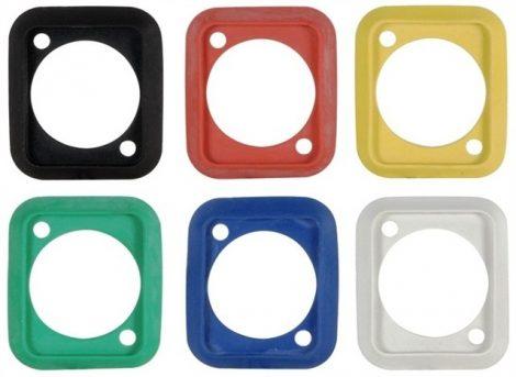 Neutrik SCDP tömítő keret D házas csatlakozók vízzáró szereléséhez, 6 féle színben