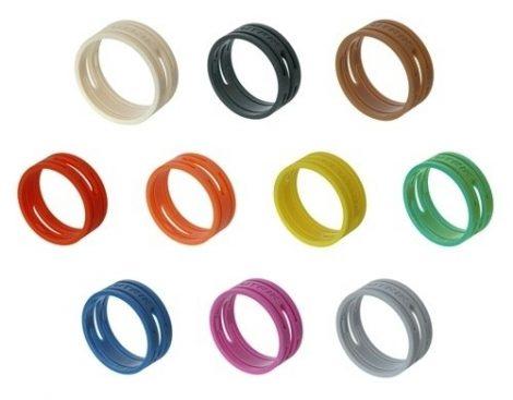 Neutrik XXR0 színes gyűrű NC*XX szériához, fekete