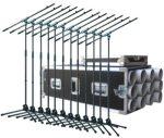 Robust 12 darab 210/7 mikrofonállvány Robust hordládában