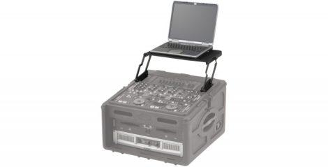 """SKB laptop állvány – racksínre szerelhető kinyitható polc, 19"""" x 8U, fekete"""