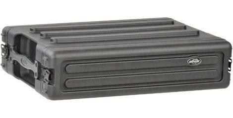 SKB Roto Shallow Rack – sekély, 2 U magas, 266 mm mély, levehető ajtók, pillangózárak