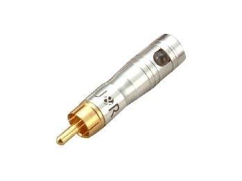 WorldMix Tű LED-világítás aranyozott RCA-ba épített 1 LED, 3V / 20 mA