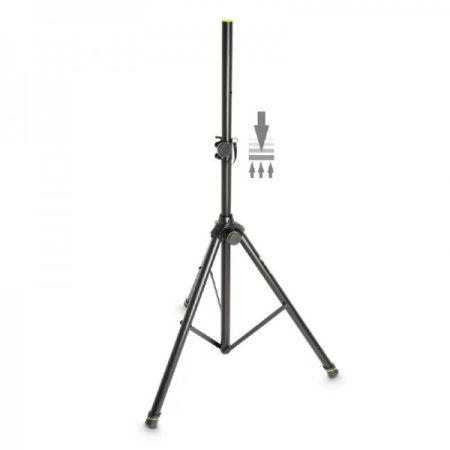 Gravity hangfalállvány gázrugóval – alumínium, 35 mm átmérőjű véggel, fekete